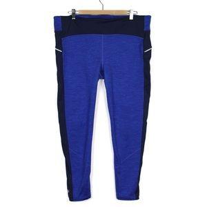 Athleta 1X Blue Fleece Lined Leggings
